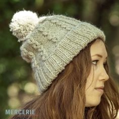 FREE Knitting Pattern for our Lovely Mock Cable Bobble Hat Free Knitting  Patterns For Women ab31b694e88