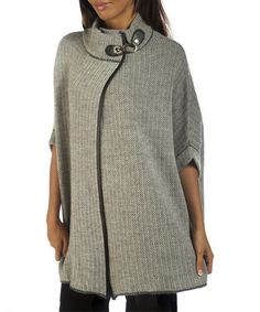Another great find on #zulily! Gray Salome Wool-Blend Cape #zulilyfinds