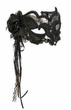 black lace mask for going to a ball. Yes I said ball. Masquerade Party, Masquerade Masks, Choker, Lace Mask, Venetian Masks, Beautiful Mask, Mask Party, Diy Mask, Mardi Gras