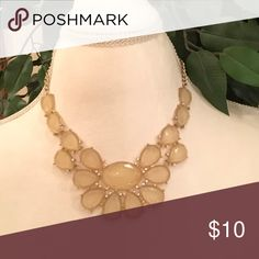 """Pretty Acrylic, Crystal, and Gold Necklace 19""""w/3"""" Pretty Acrylic, Crystal, and Gold Necklace. 19"""" with a 3"""" extension. Jewelry Necklaces"""