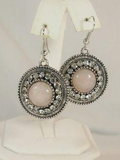 FG350 - Natural Stone Earrings - Rose Quartz