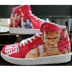 Custom Jordans SLAM DUNK Custom Sneakers Painted Canvas Shoes, Hand Painted Shoes, Custom Jordans, Custom Sneakers, Painting Shoes, Slam Dunk, Unique Christmas Gifts, Slammed, On Shoes