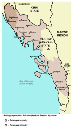 Rohingya people in Rakhine (Arakan) State in Myanmar Cultural Significance, Refugee Crisis, Recent Events, State Map, Persecution, Antara, World Leaders, Peta, World History