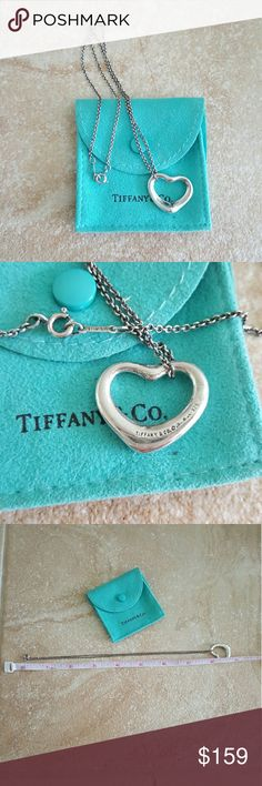 Tiffany & Co. Sterling Silver Heart Necklace Tiffany & Co. Sterling heart necklace, in good used condition. There is some lite scratching from use, this can be buffed out. 100% authentic, comes with T&C bag. Tiffany & Co. Jewelry Necklaces