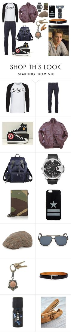 """""""Steve Rogers"""" by captamericasgurl24 on Polyvore featuring Carhartt, Religion Clothing, Converse, Burberry, Diesel, Yves Saint Laurent, Givenchy, Neiman Marcus, American Coin Treasures and Magnanni"""