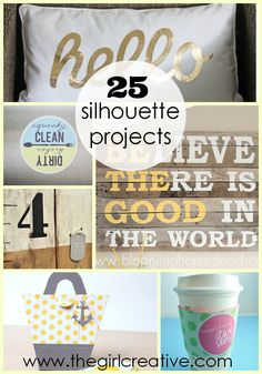 25 Silhouette Projects So you just got your new Silhouette Cameo and you are itching to get crafting. Here are 25 projects that can help get you started!