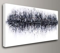 abstract Painting acrylic painting art painting large canvas art Original wall home office interior decor modern black white Baron Visi X
