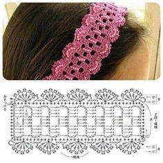 Exceptional Stitches Make a Crochet Hat Ideas. Extraordinary Stitches Make a Crochet Hat Ideas. Bandeau Crochet, Crochet Diy, Crochet Motifs, Crochet Diagram, Crochet Chart, Thread Crochet, Love Crochet, Crochet Flowers, Crochet Stitches