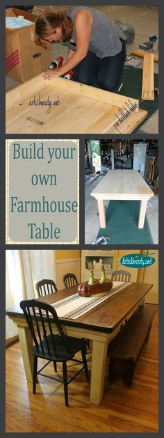 ART IS BEAUTY: How to build your own FarmHouse Table for under $100 http://arttisbeauty.blogspot.com/2013/09/how-to-build-your-own-farmhouse-table.html