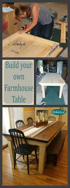 ART IS BEAUTY: How to build your own FarmHouse Table for under $100 http://arttisbeauty.blogspot.com/2013/09/how-to-build-your-own-farmhouse-table.html