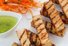 Grilované tofu so šalátom z mrkvy