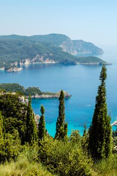 Plan a trip to see the islands of the Mediterranean, including Greece's Corfu Island.