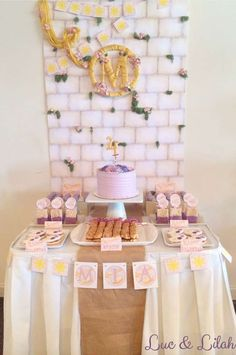 Gorgeous Tangled birthday party! See more party ideas at CatchMyParty.com!