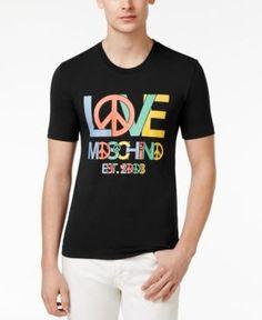 Love Moschino Men's Slim-Fit Graphic Print T-Shirt - Black XXL