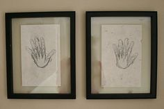 Trace their hand on their birthday every year on the same paper. (It will make you cry. They grow up so fast!)...Nimbus cases are a perfect way to display these, and keep them easy to access each year.