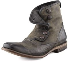 """JOHN VARVATOS = """"Bowery"""" Button Boot, Gray"""