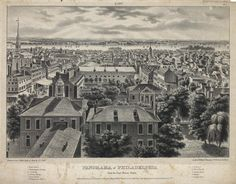Panorama of Philadelphia : From the State House Steeple. (East Pl. 1). | The Old…
