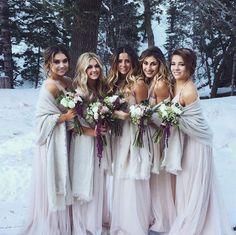 Winter wedding bridesmaids                                                                                                                                                                                 More