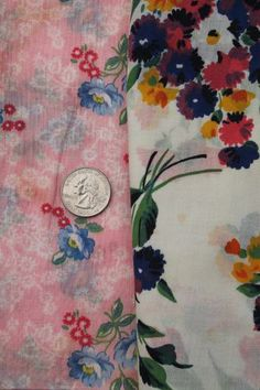 lot of vintage cotton print quilting fabric and original old feed sack prints