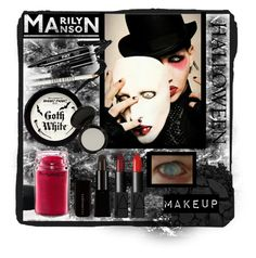 """""""Marilyn Manson Halloween Makeup"""" by tawnee-tnt ❤ liked on Polyvore featuring Urban Decay, MAC Cosmetics, Manic Panic NYC, Eyeko, Lord & Berry, NARS Cosmetics and halloweenmakeup"""