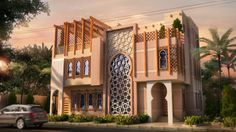 Modern Andalusian style house in saudi arabia .. designed by MCUBE Architects…