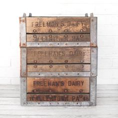 Wood and Metal Crate Uncovet