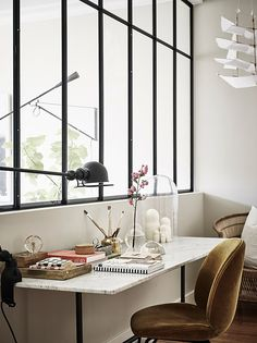 black windows in office area / sfgirlbybay