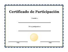 diplomas de participacion para imprimir