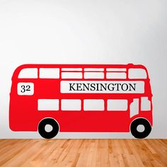 A BIG RED BUS Personalised Retro London Bus Wall Sticker by Oakdene Designs from Not On The High Street. Choose from 9 colours and the route number and destination can be personalised. Wall Stickers Uk, Personalised Wall Stickers, Wall Decals, Sticker Vinyl, Personalised Gifts, Wall Art, Boy Room, Kids Room, Retro Bus