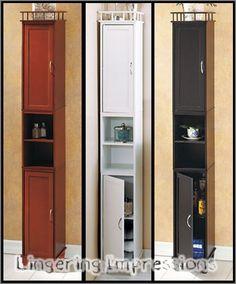 SLIM STORAGE CABINET BATHROOM SHELF LAUNDRY ROOM KITCHEN DISPLAY 65 TALL Unbranded