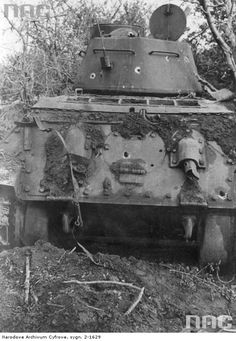 T-34/85. with shots up its rear .. says damage done by Hans Ulrich Rudel with a Stuka ..1944