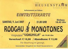 Rodgau Monotones @ Schloß Heusenstamm in Heusenstamm, Hessen - 09. Juni 2007