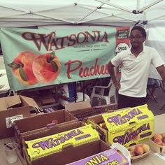 @watsoniafarms is beating the heat today at the #westsidefarmersmarket from 10 a.m. to 2 p.m.