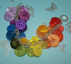 rainbow button bracelet by The_Jammy_Cow, via Flickr
