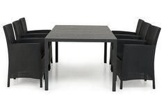 Ruokailuryhmä Teramo 6 Belle nojatuolilla  - Musta | Kodin1.com