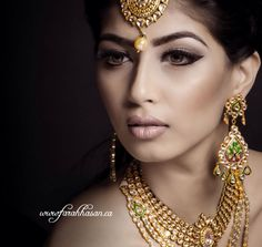 'All that glitters is gold'.....from the advert pages of @celebrationsmagazine. Makeup hair by me. Styled by @r2walia photographed by @gstills for Mahindra Jewellers. #instamakeup #mua #makeupartist #asianbride #indianbride #bridal #weddingmagazine #gold #arabicbride #arabiceye #cateye #contour #face #bridaljewellery #bridalfashion #kundan #beauty #beautiful #anastasiabeverllyhills #dressyourface