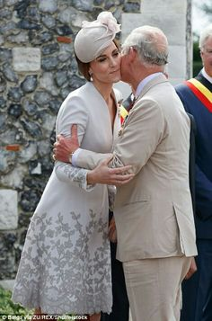 Catherine Duchess of Cambridge and Prince Charles at the Tyne Cot Cemetery outside Ypres Belgium. July 31 2017