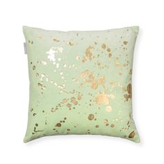 Buy the Green Metallic Splatter Cushion at Oliver Bonas. Enjoy free UK standard delivery for orders over £50.