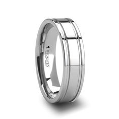 ANCHORAGE Dual Offset Grooves Mens Tungsten Carbide Wedding Ring - 6mm - FREE Engraving, FREE Expedited Shipping & FREE Lifetime Warranty Thorsten Rings. $59.99