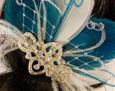 Bridal Feather Fascinator Bridal Fascinator by IceGreenEyes