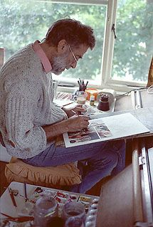 Don Lawrence at home