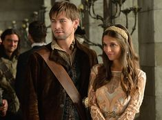 """Reign -- """"The Prince of the Blood"""" -- Image Number: -- Pictured (L-R): Torrance Coombs as Bash and Caitlin Stasey as Kenna -- Photo: Ben Mark Holzberg/The CW -- © 2014 The CW Network, LLC. All rights reserved. Reign Season 2, Season 1, High Society, Sebastian De Poitiers, Bash And Kenna, Reign Bash, Serie Reign, Lady Kenna, Torrance Coombs"""