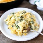 Quinoa spinach mac and cheese