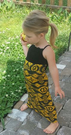 Toddler maxi tribal print dress..that one is a tad bit high but regardless this would look great on Callie