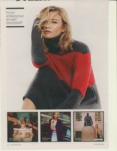 October 2014 Lucky Magazine, Karlie Kloss, Turtle Neck, October 2014, Sweaters, Tops, Style, Models, Fashion