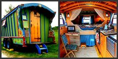Glamp in traditional Gypsy Style.