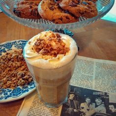Latte Vienna Cookies and Vanilla Chantilly .Speciality by Oma Coffee !
