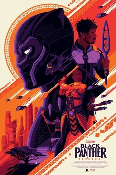 Drawing Marvel Black Panther Regular Edition by Tom Whalen - Films Marvel, Marvel Movie Posters, Avengers Poster, Superhero Poster, Disney Posters, Movie Poster Art, Marvel Art, Marvel Heroes, Marvel Dc Comics