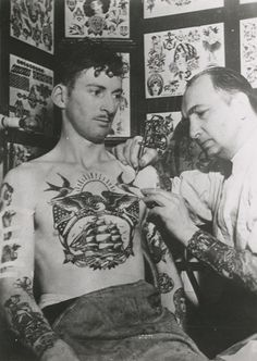 a typical sailor tattoo in the day
