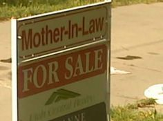 """funny sign """"mother-in-law"""""""